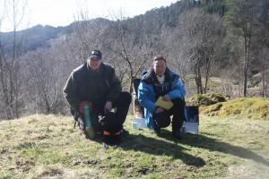Mette Birkeland, mannen Trond Sleen  og Asslan av Aktehaugen